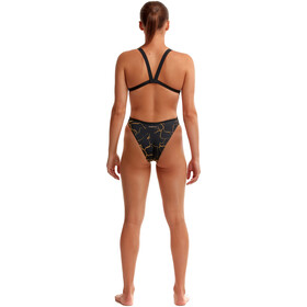 Funkita Brace Free Swimsuit Women, cracked gold